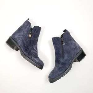Blondo Blue Suede Zip Boot Bootie Size 6